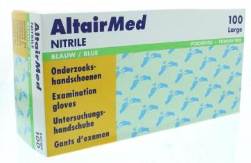 AltairMed nitril handschoen poedervrij EN 374-1 medium, doos 100 stuks