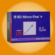 B-D Micro-Fine spuit + naald steriel doos 100 stuks