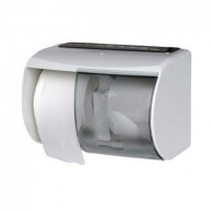 Euro toiletpapier dispenser wit, 1 stuks