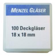 Dekglaasjes 18 x 18 mm - 100 stuks
