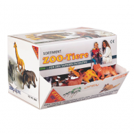 Dierenfiguurtjes kunsstof, doos 100 stuks.