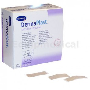 DermaPlast Sensetive injectiepleisters 4 x 1,6 cm, doos 250 strips
